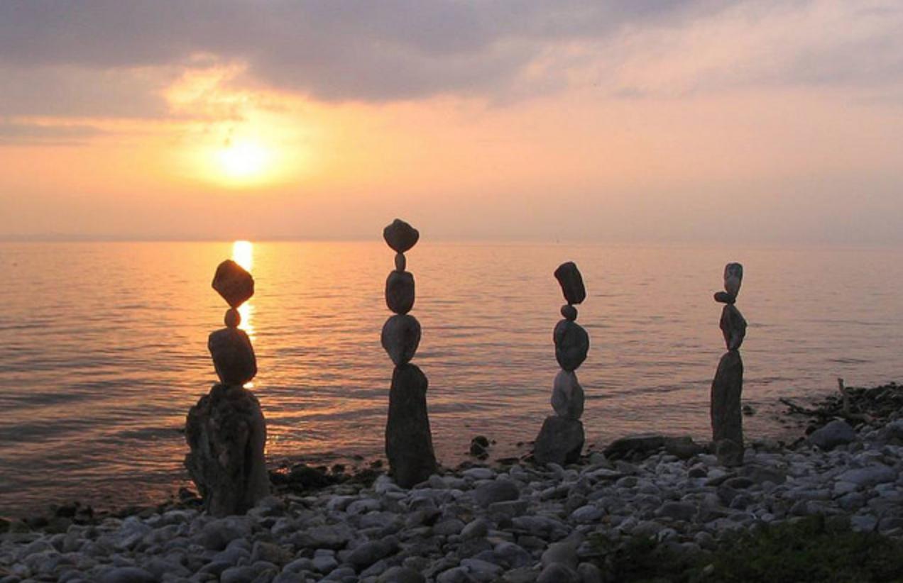 balancing sunset